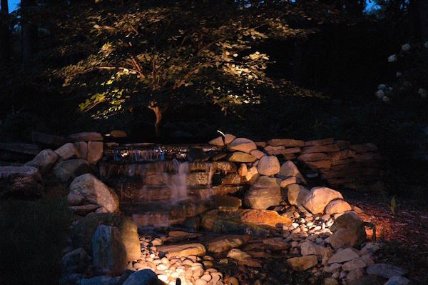 landscape lighting - landscape design - garden design