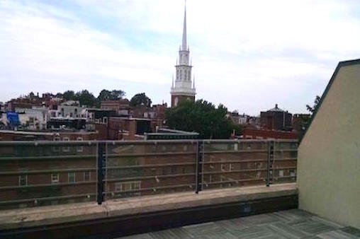 boston rooftop view - before garden design