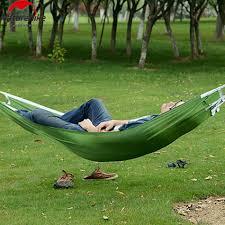 gardener resting in a hammock