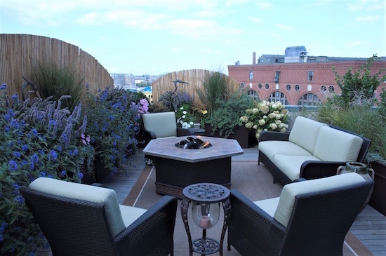 roof deck garden design patio