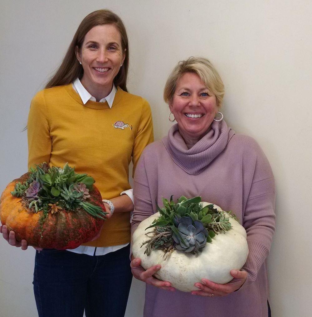 Pumpkin Centerpieces Succulents Workshop