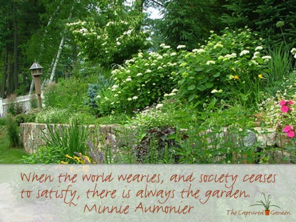 Garden quote - world wearies