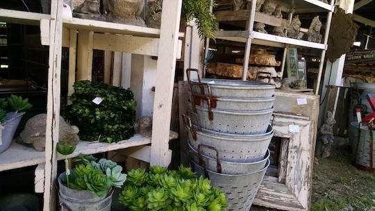 Galvanized metal containers found at Country Living Fair, Rhinebeck, 2017