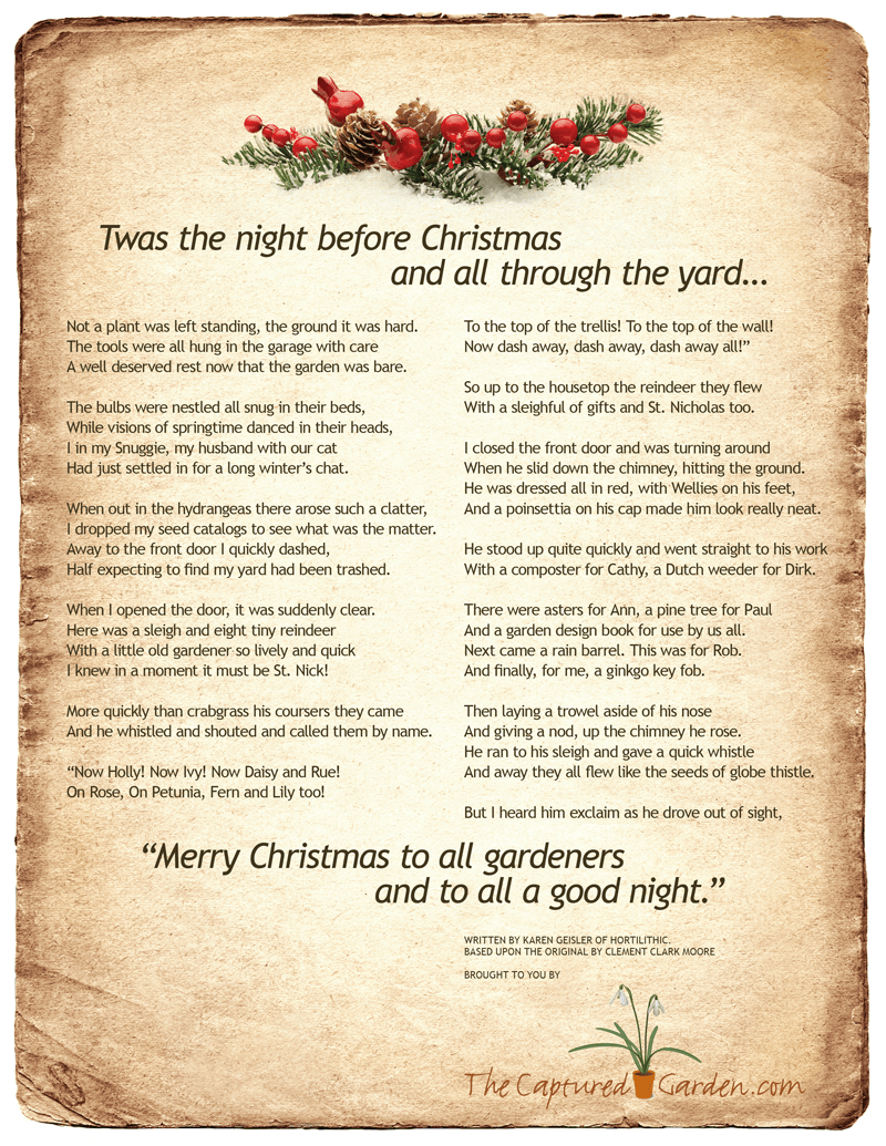 photo relating to Twas the Night Before Christmas Printable Book named Twas the Evening Ahead of Xmas Gardeners Variation The