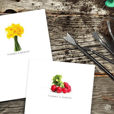 gardener themed notecards